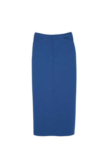 Sarah Skirt / Blue Georgette