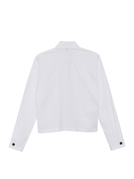 Sherry Top / White Stretch Shirting