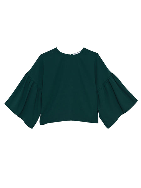 Tessa Blouse / Green Georgette