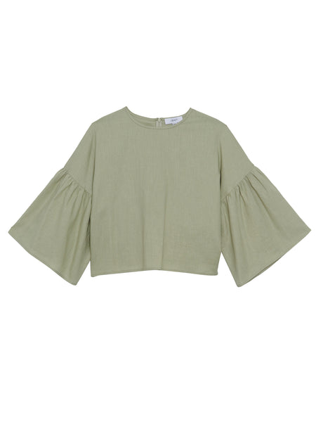 Tessa Blouse / Sage Washed Cotton