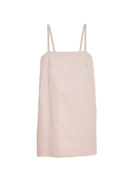 Joni Short Dress / Pink Twill