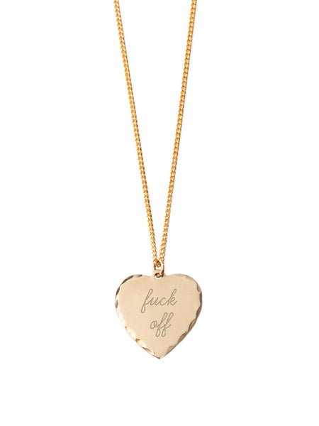 Sweet Nothing Necklace / Fuck Off