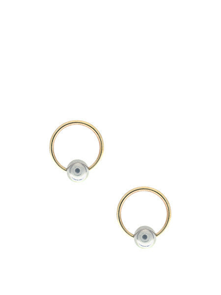 Nadia Bead Hoop Earrings
