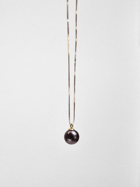 Pippa Pearl Necklace / Yellow Gold & Black Pearl