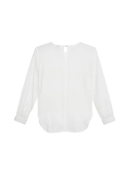 Rosa Blouse / White Silk