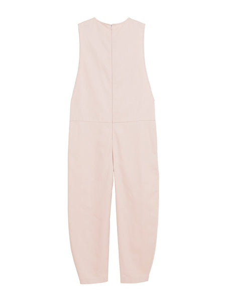 Saddle Jumpsuit / Pink Twill