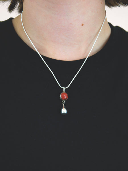 Talisman Drop Necklace / Red Jasper