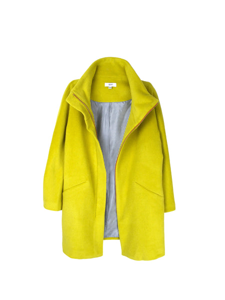 Tammy Coat / Chartreuse Cashmere