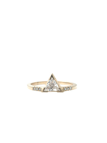 Trillium Ring with Pave