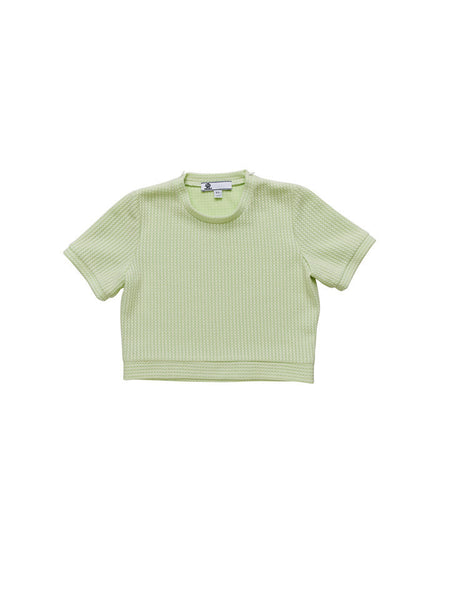 Alberta Sweater / Green Knit Raschel