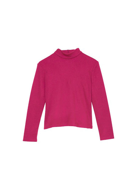Carbide Turtleneck / Magenta Knit