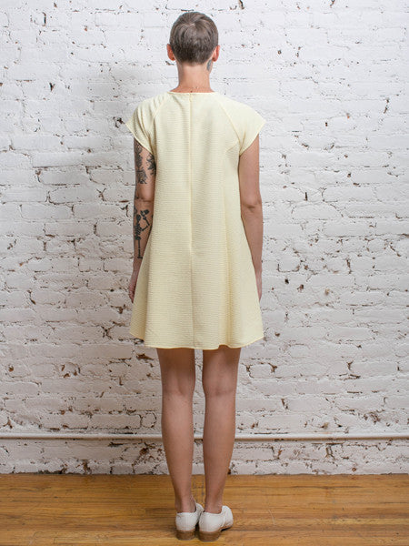 Cavalier Dress / Yellow Double Cloth