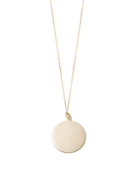 Blank Circle Pendant Necklace / Gold