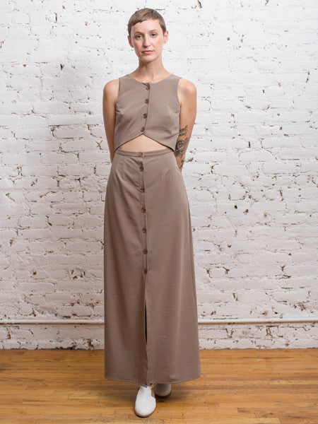 Crop Crop Ankle Dress / Tan Gabardine