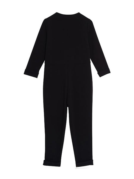 Emery Jumpsuit / Black Crepe