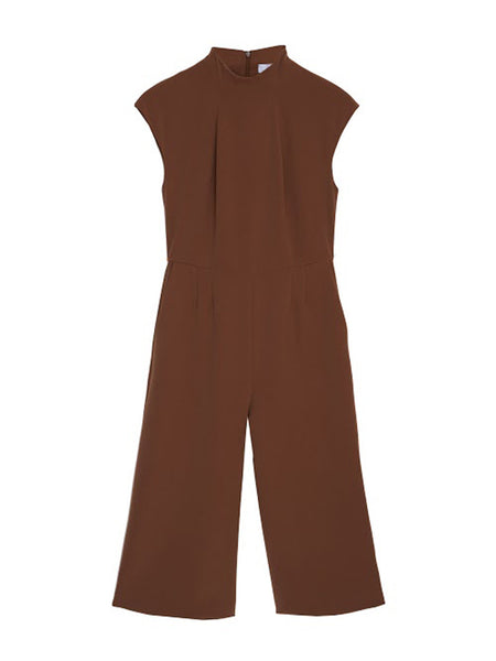 Picard Jumpsuit / Brown Doublecloth