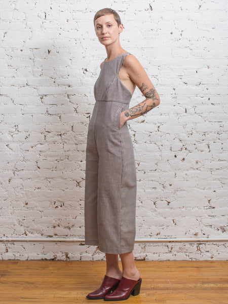 Sandstone Jumpsuit / Engine Stripe