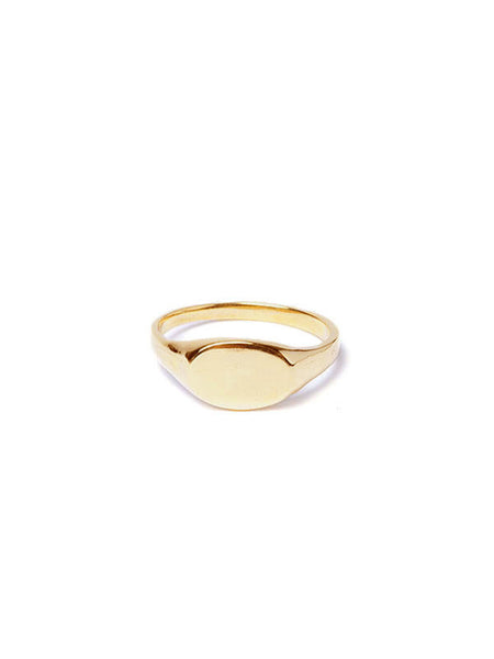 Custom Signet Ring / Brass