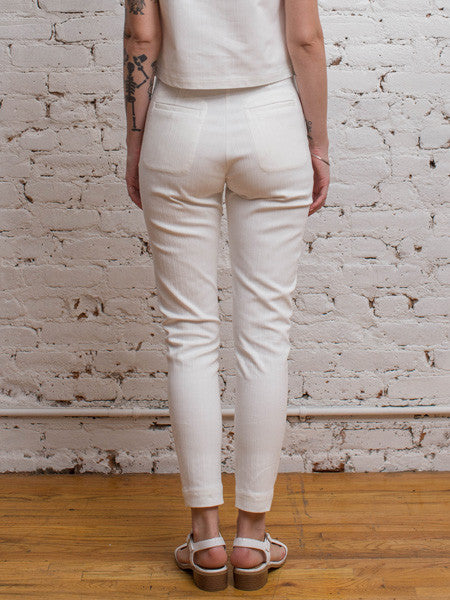 Somer Cigarette Pant / White Stretch Denim