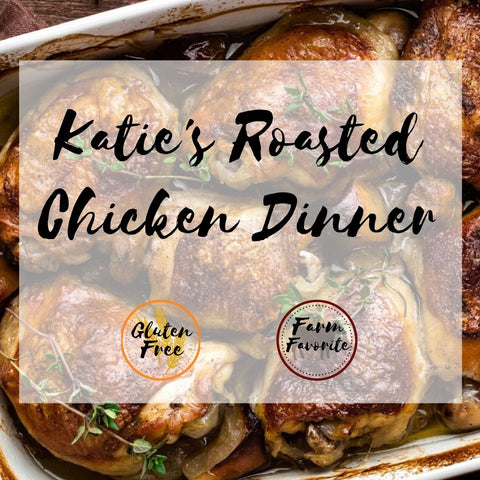 Katie's Roasted Chicken, Hidden Veggie Mashed Potatoes & Gravy with Garlic Green Beans