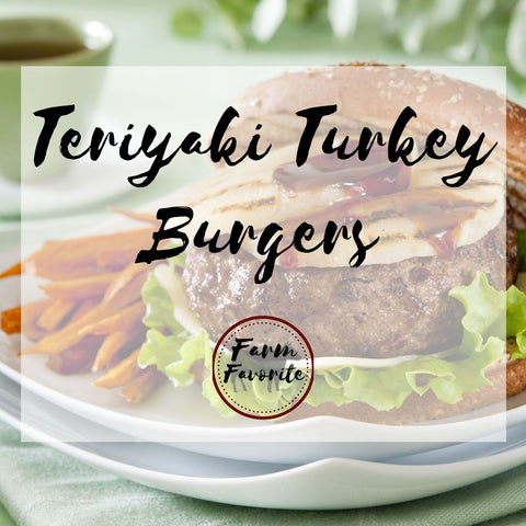 Teriyaki Turkey Burgers with Sweet Potato Wedges