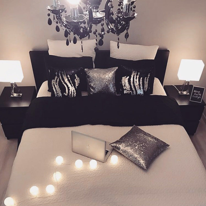 Black & Silver Glam Pillows
