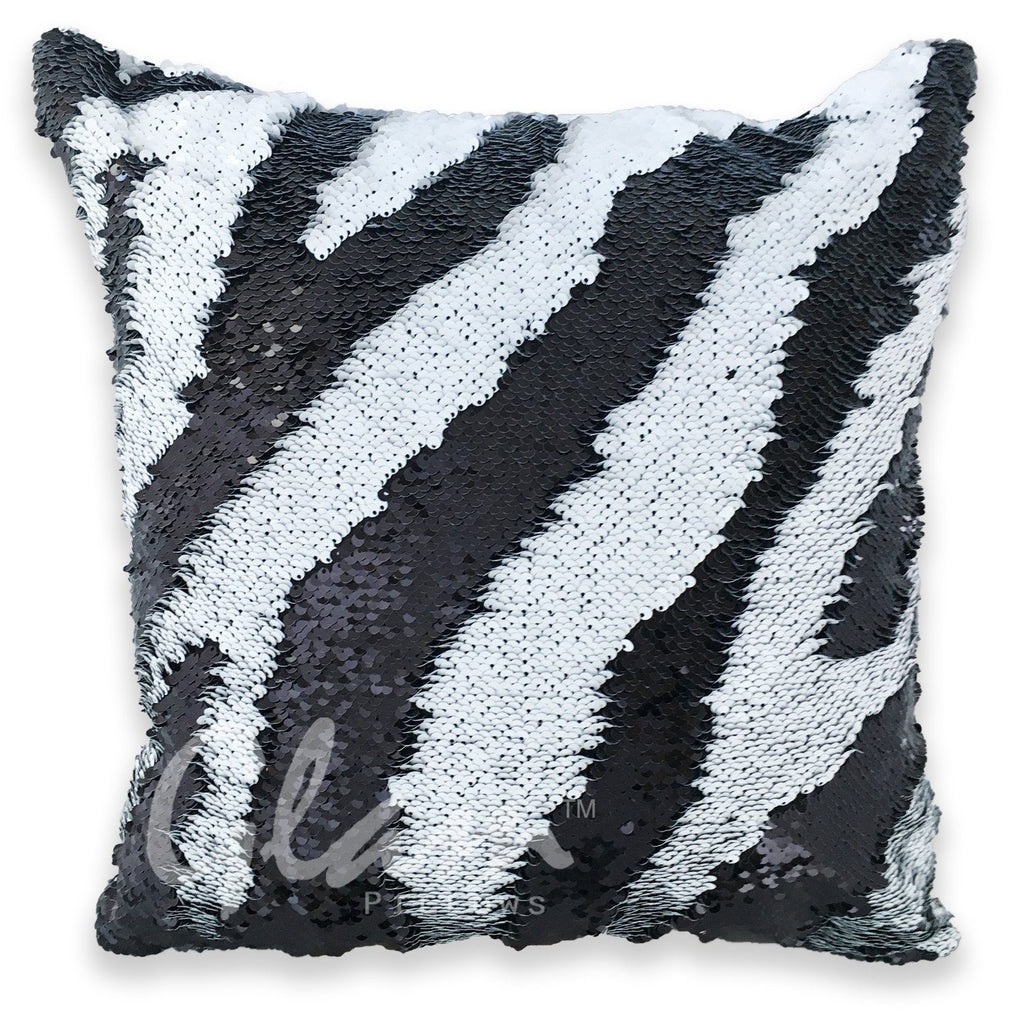 Black & White Reversible Sequin Glam Pillow
