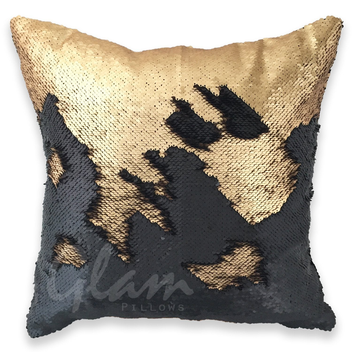 red gold pillows mermaid product pillow