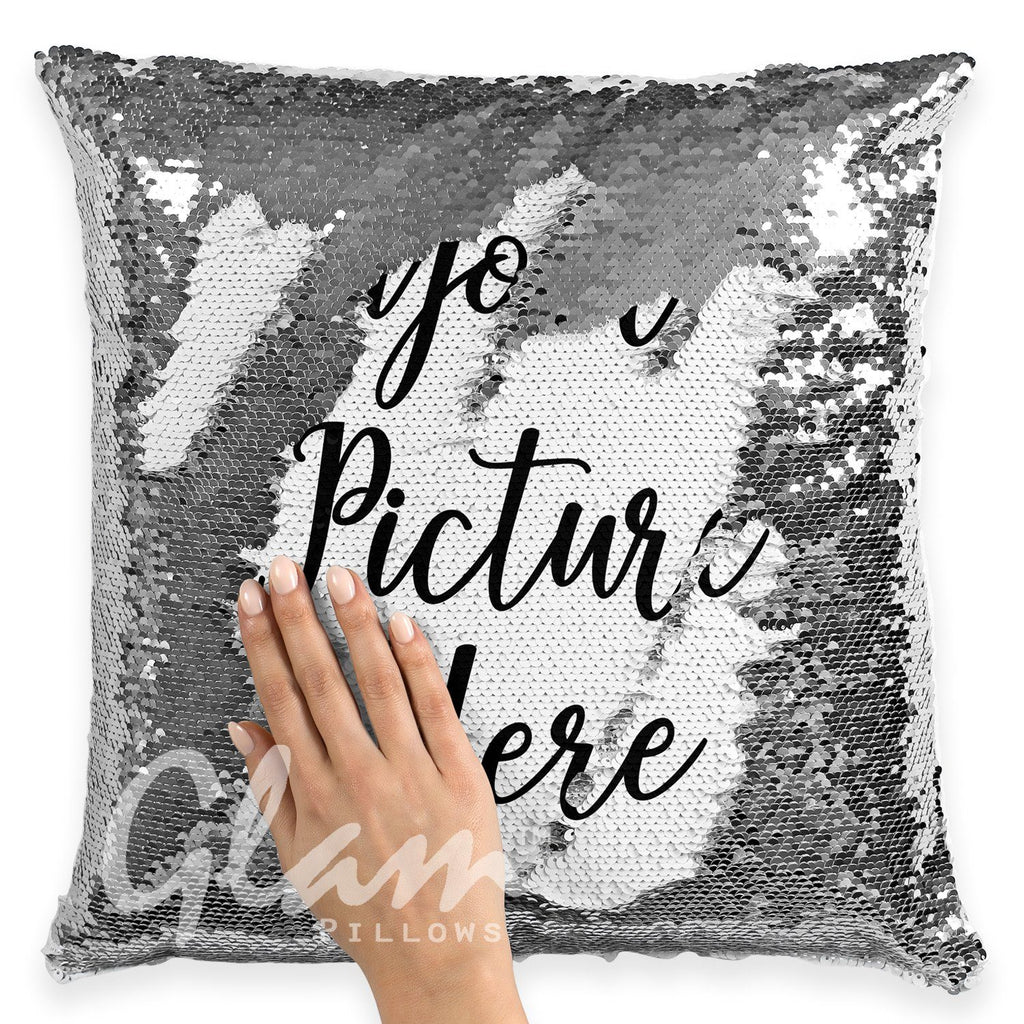 Personalized Reversible Sequin Glam Pillow *Add Your Own Photo*
