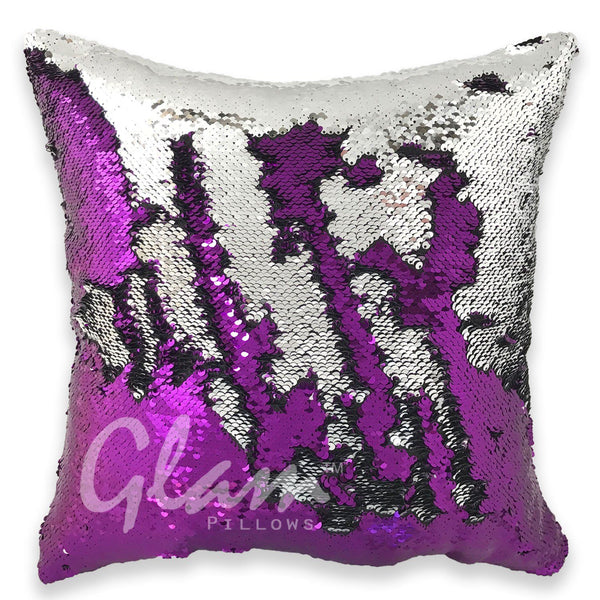 Purple & Silver Reversible Sequin Glam Pillow - Glam Pillows - photo#18