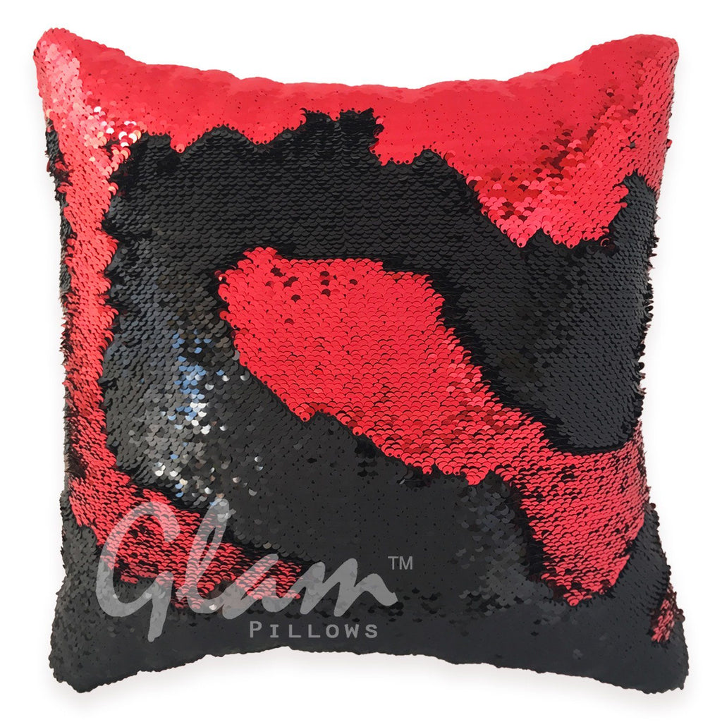 Red & Black Reversible Sequin Glam Pillow