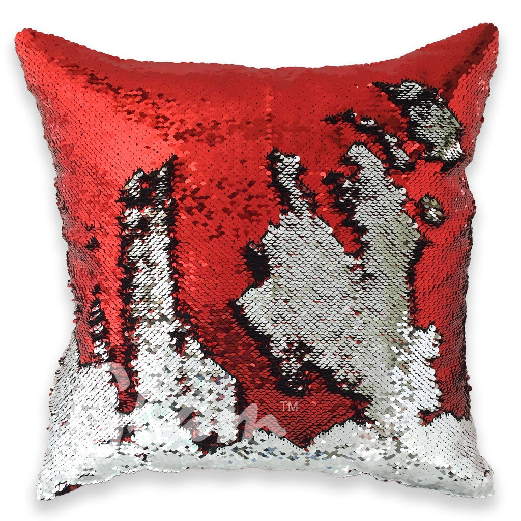 Red & Silver Reversible Sequin Glam Pillow