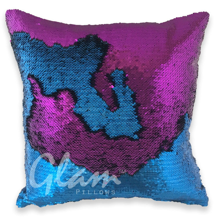 Royal Blue & Violet Reversible Sequin Glam Pillow