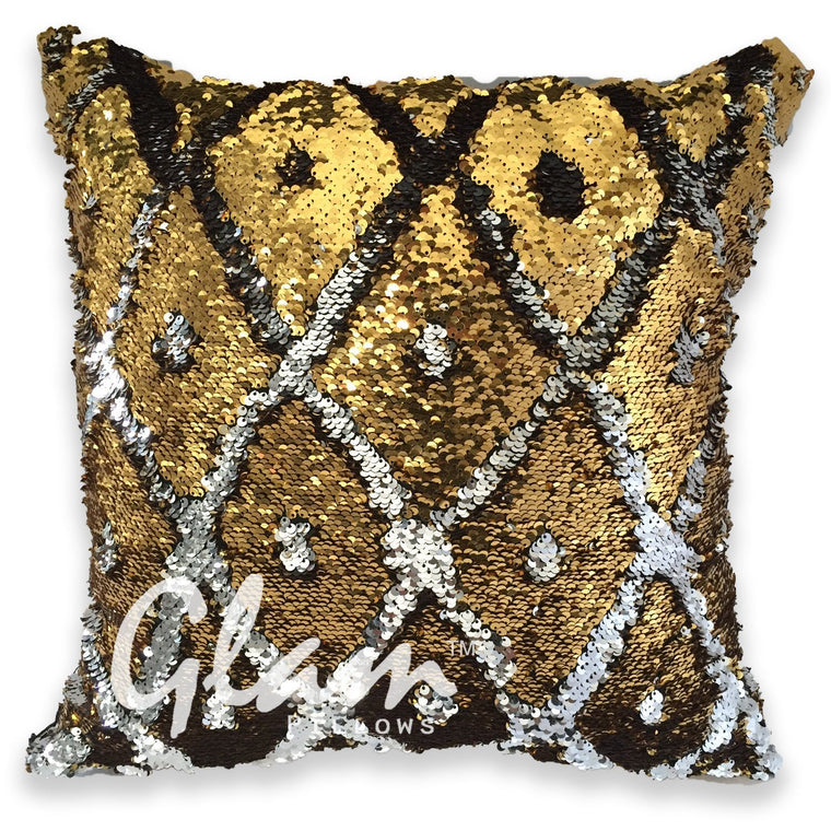 Silver & Gold Reversible Sequin Glam Pillow