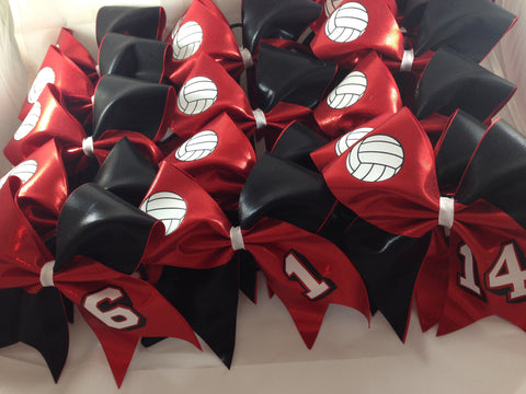 Volleyball team bows
