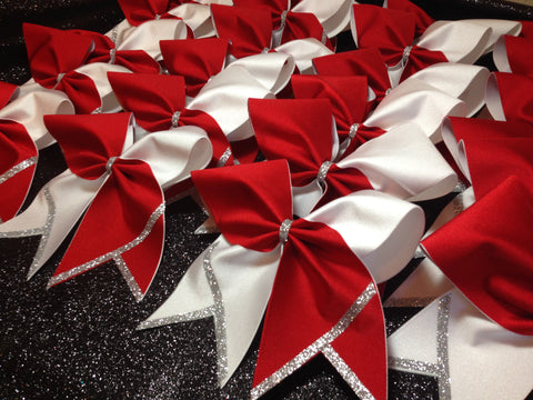 JV Red/White bows