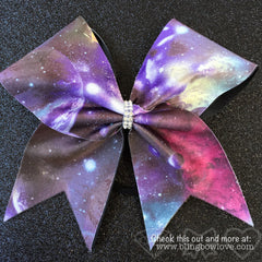 Galaxy Print Cheer Bow - Bling Bow Love - 3