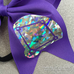 Girls Love Diamonds - Softball Bow - Purple - Bling Bow Love - 4