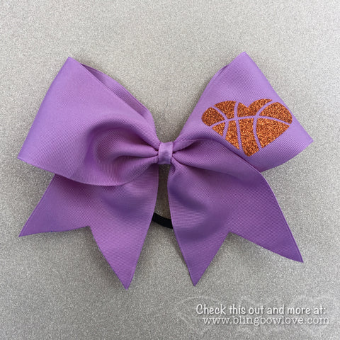 Hoop Love Bow - Lilac - Bling Bow Love - 1