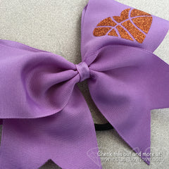 Hoop Love Bow - Lilac - Bling Bow Love - 2