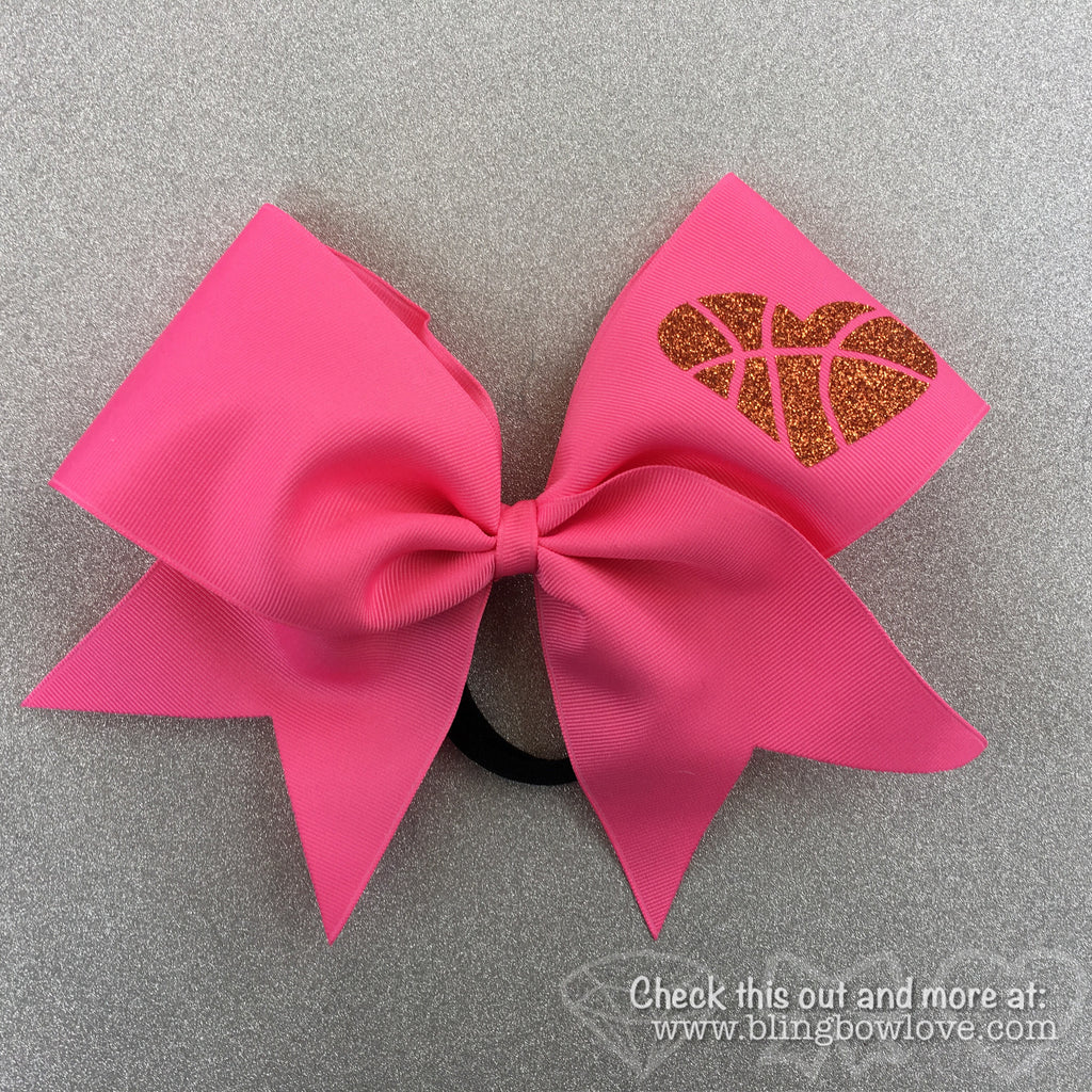Hoop Love Bow - Pink - Bling Bow Love - 1