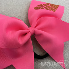 Hoop Love Bow - Pink - Bling Bow Love - 2