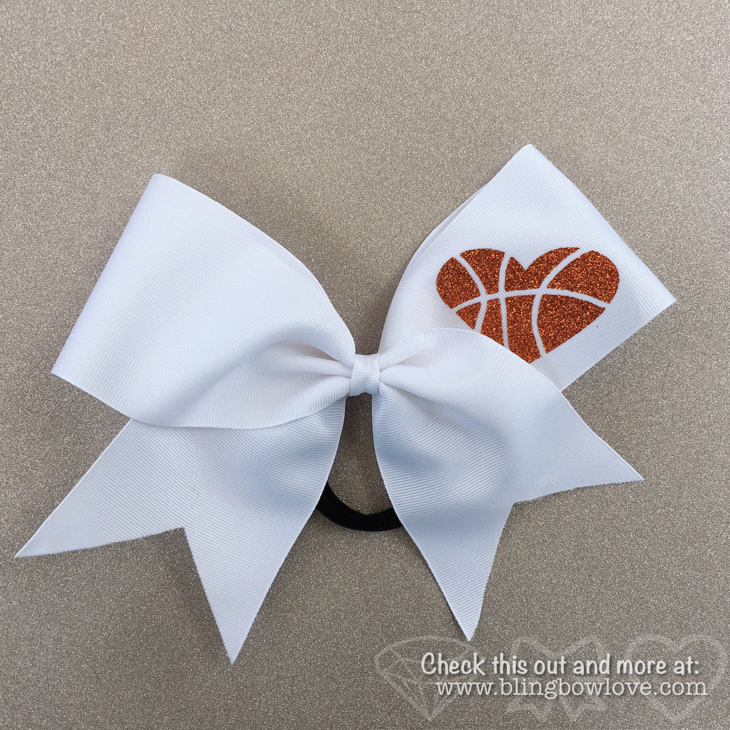 Hoop Love Bow - White - Bling Bow Love - 1