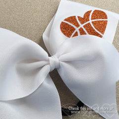 Hoop Love Bow - White - Bling Bow Love - 2
