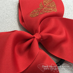 Hoop Love Bow - Red - Bling Bow Love - 2