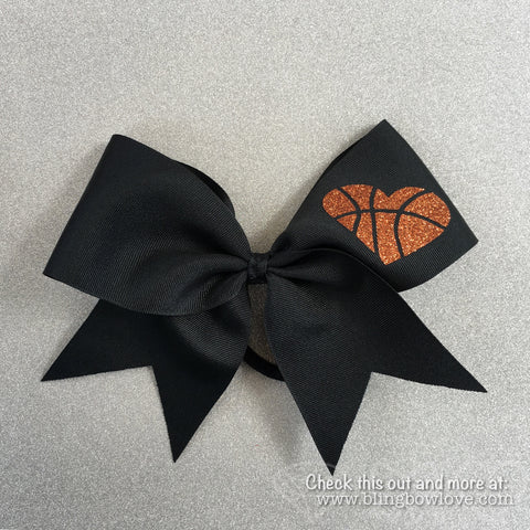 Hoop Love Bow - Black - Bling Bow Love - 1