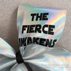 The Fierce Awakens Bow - Silver Holographic - Bling Bow Love - 2