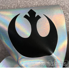 The Fierce Awakens Bow - Silver Holographic - Bling Bow Love - 3