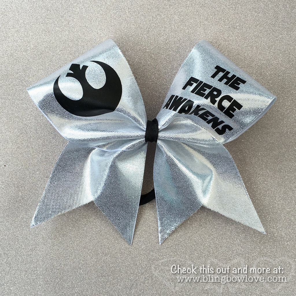 The Fierce Awakens Bow - Silver - Bling Bow Love - 1