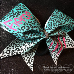 Fierce Bow - Teal and Pink - Bling Bow Love - 2
